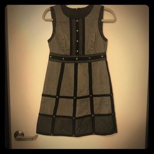 Anna Sui for Target gray dress w/ velvet and studs